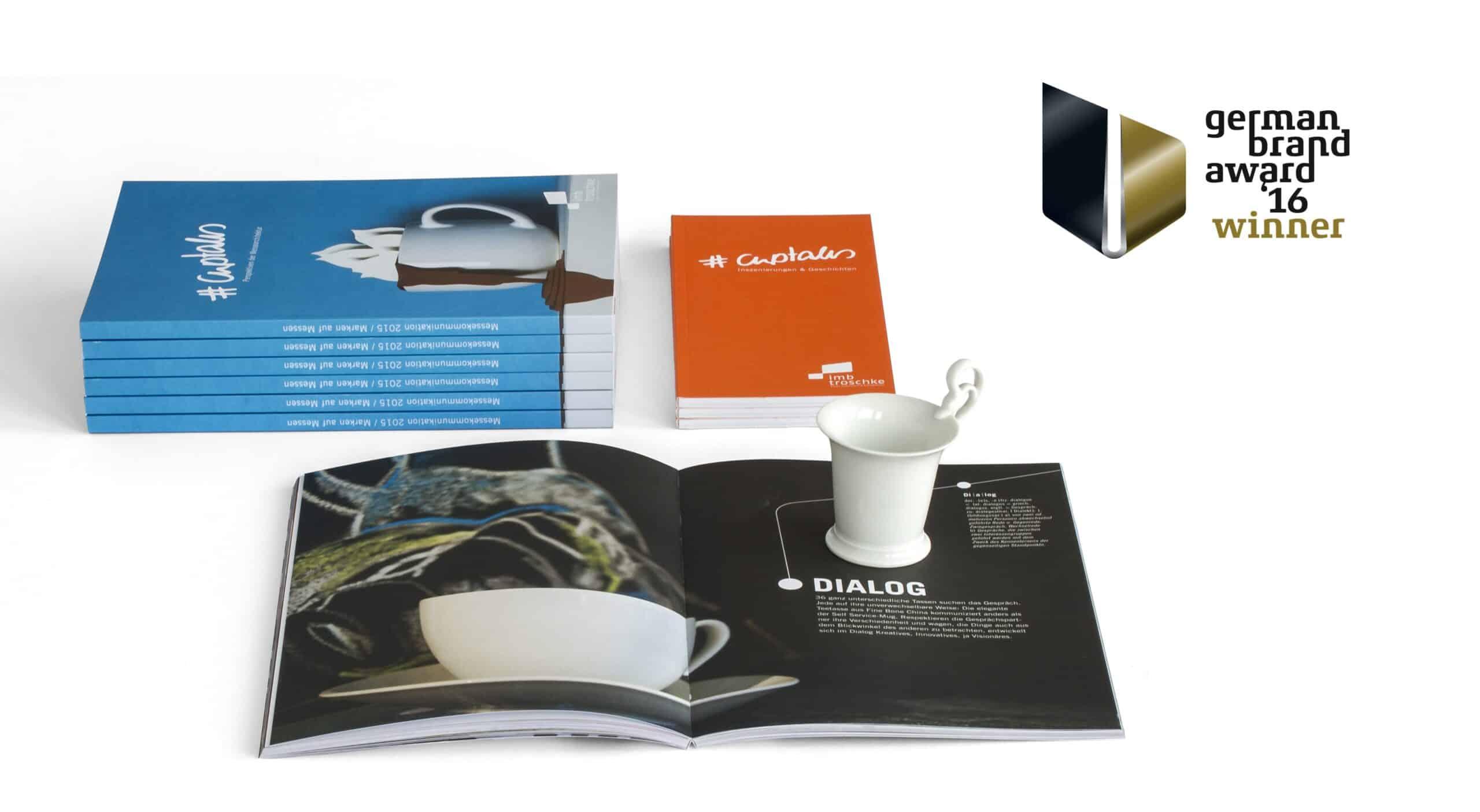 #cuptales Broschüre gewinnt den German Brand Award